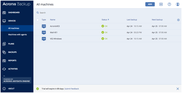 acronis backup server essentials