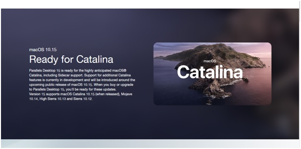 parallels desktop 15 for mac catalina support