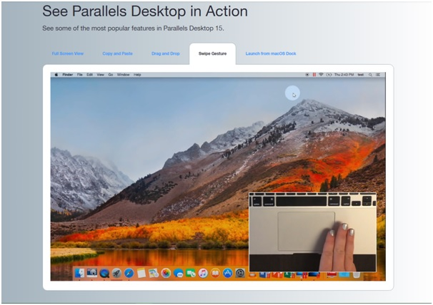 parallels desktop 15 in action