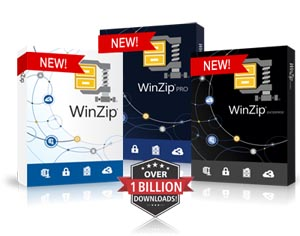 winzip standard and pro versions boxshots