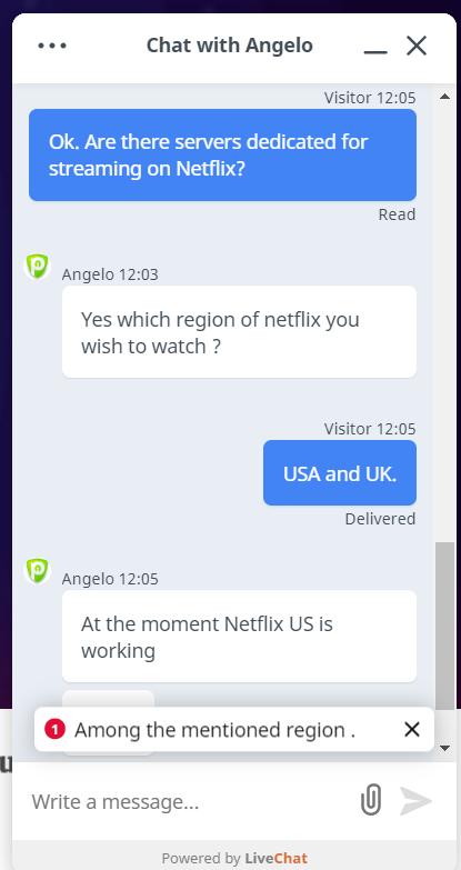 PureVPN chat 5