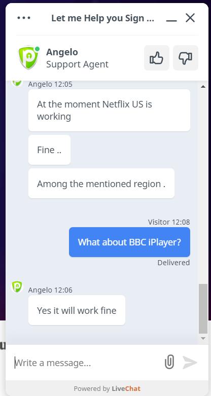PureVPN chat 7