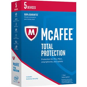 McAfee Total Protection 2020 box