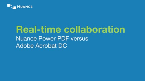 Nuance Power PDF vs Adobe Acrobat Pro DC