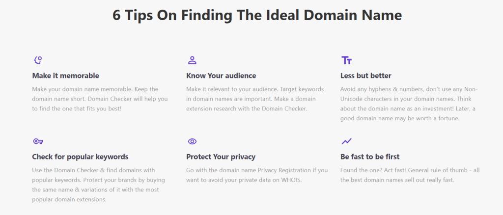 Hostinger tips to find ideal domain name