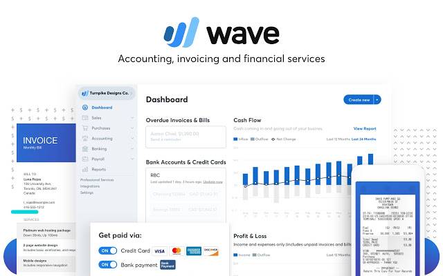 Wave accounting user interface