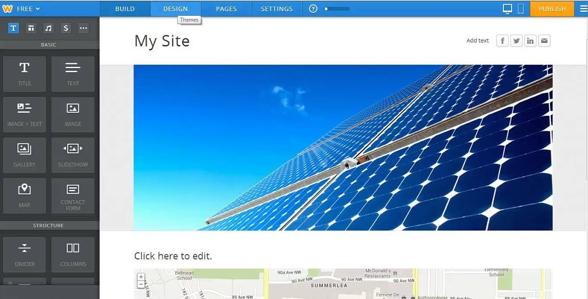 SiteGround create a website with Weebly