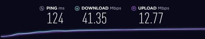 RusVPN speed test usa server